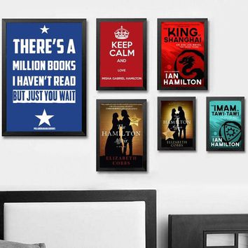 American Hamilton Musical Hot Art Poster Silk Light Canvas Painting Print For Home Decor Wall Picture