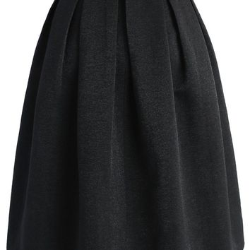 Retain My Classic A-line Skirt in Black
