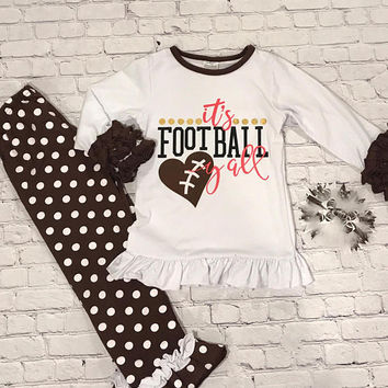 Girls Football Outfit, Girls Football Shirt, Football Sister, Girls Football Dress, Girls Football Bow, Girls Football Jersey, Little Sister