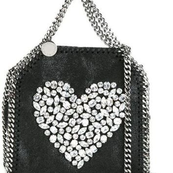 ESBONJF Stella McCartney Crystal Heart Mini Falabella Tote - Farfetch