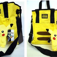 Pokemon Pikachu Messenger Sling Bag - Bonus Pikachu Doll