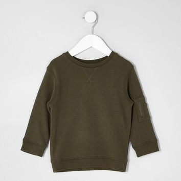 Mini boys khaki sleeve pocket sweatshirt - Baby Boys Tops - Mini Boys - boys