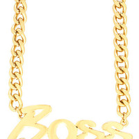 Top-Boss-Necklace GOLD - GoJane.com