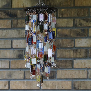 Stained Glass - Colored Glass - Wind Chimes - Sun Catcher - OOAK - Reverie