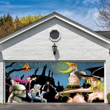 Garage Door Halloween Decorations Cover Decor Night Party Billboard Outside Decoration for Garage Door Halloween