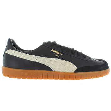 Puma Oslo - Black/Whisper White Suede/Leather Low-top Sneaker
