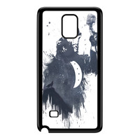 Wolf Song 3 Black Hard Plastic Case for Galaxy Note 4 by Balazs Solti