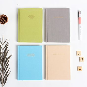 Cute new person agenda planner organizer notebook stationery,student 3-in-1: daily weekly monthly planner organizer notebook A6