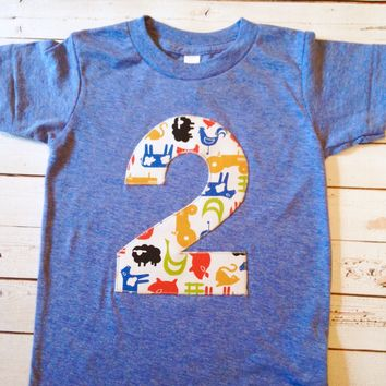 Athletic blue farm birthday shirt Boys 1st Birthday pick a number one modern farm cow pig horse 2 3 4 tractors barn yard Fall Birthday party