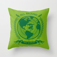 All Around The World Throw Pillow by Berwies