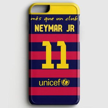 Neymar Jr Santos Barcelona Fc Jersey iPhone 6 Plus/6S Plus Case
