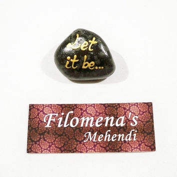 Let it be, Write words, Message rocks, Word stone, Funny gift, Friendship gift, Romantic gift, Cutom stone, Word stones, Message stone