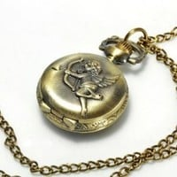 Small Pocket Watch - Amor's arrow [Jewelry]