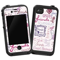 Friends Pink Skin  for the iPhone 4/4S Lifeproof Case by skinzy.com