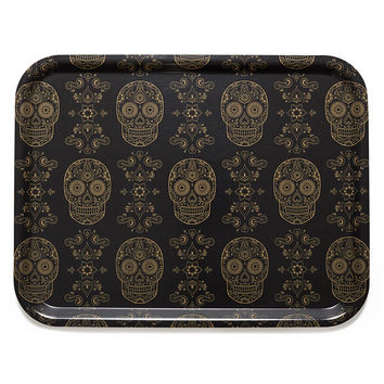 Sugar Skulls Large Cocktail Tray - by Emily Evans