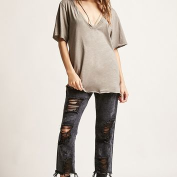 Strappy Slub Knit Tee