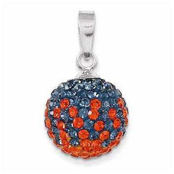 Sterling Silver Swarovski Elements Auburn Spirit Ball Pendant