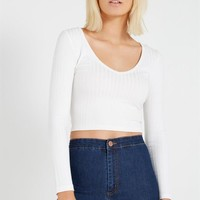 dolly crop long sleeve top