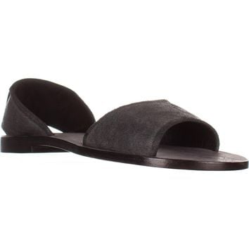 Kelsi Dagger Brooklyn Clarkson Flat Sandals, Black, 9.5 US / 40 EU