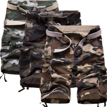 Casual Pants Men High Quality Camouflage Capri [6541435587]