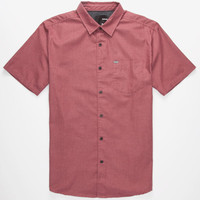 Hurley One & Only Mens Shirt Burgundy  In Sizes