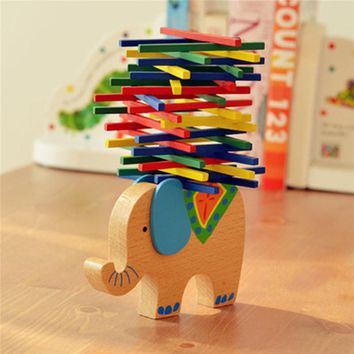 Elephant Balancing Blocks Game