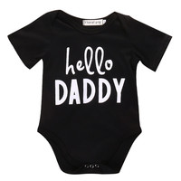 ( Hello Daddy ) Baby Romper Onesuit. Available in white or black