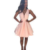 Pink Chiffon Party Dress