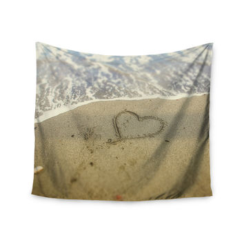 "Debbra Obertanec ""Beach Heart"" Sand Coastal Wall Tapestry"