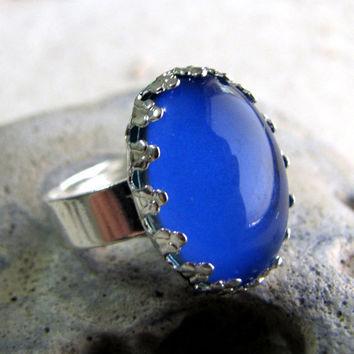 Mood Ring  Petite Crown  Silver Ring by AshleySpatula on Etsy