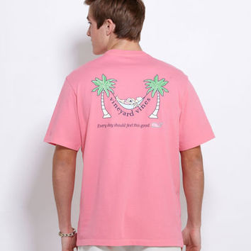 Men's T-Shirts: Palm & Hammock Graphic Pocket-T-Shirt– Vineyard Vines