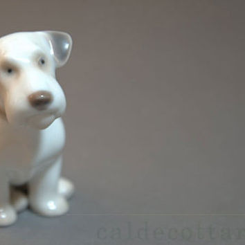 Patched Sealyham Terrier Adolescent, Figurine by Bing & Grondahl