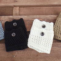 Winter Accessories, Knit Crochet Boot Topper. Assorted Colors Available.