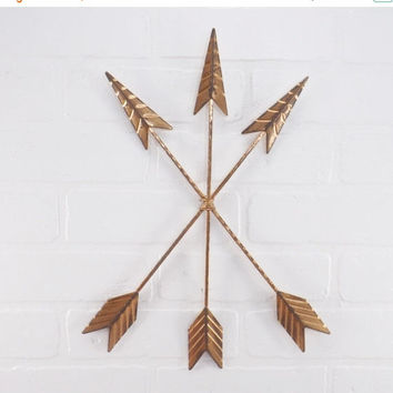 NEW YEARS SALE Copper Wall Arrow / Arrow Decoration / Nursery / Tribal / Southwestern / Bohemian / Metal Arrow