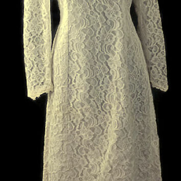 Audrey Lace Dream White Gown Vintage 1960, Just In