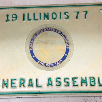 1977 Illinois Official House General Assembly License Plate