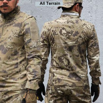New Breathable Army Tactical Military Outdoor Jacket Outdoor Hunting Military Mens Camouflage Shirts