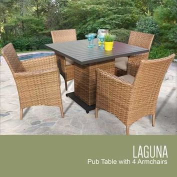 Laguna Square Dining Table with 4 Chairs