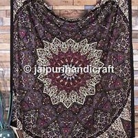 Large Hippie Mandala Tapestry Bohemian Gypsy Wall Hanging  Bedspread Dorm Décor