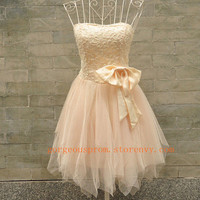 Charming A-line Sweetheart Mini Bowknot Prom Dress from prom 2013