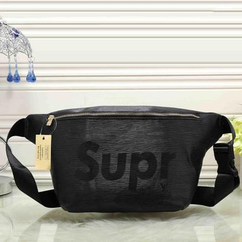 Lv X Supreme Women Leather Purse Waist Bag Single Shoulder Bag Crossbody