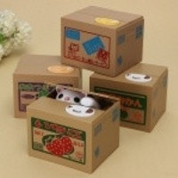 4-Style Cat Steals Coin Bank Piggy Money Penny Auto Saving Box Nice Gift HOT = 1929884420