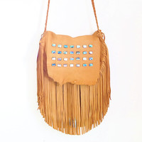 Abalone Fringe Bag — Beyond Buckskin Boutique