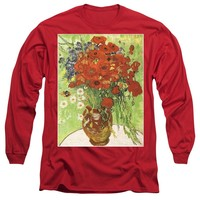 Vincent Van Gogh Poppies With Daisies - Long Sleeve T-Shirt