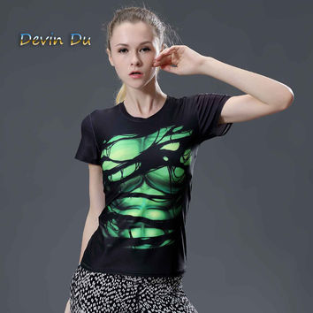 HOT WOMEN T-SHIRT BODYS ARMOUR Compression Green lantern /SUPERMAN COMPRESSION T SHIRT GIRL UNDER FITNESS TIGHTS TOPS CLOTHING