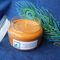 Natural Soy Candle in Apothecary Jar, Acorn Harvest Scented