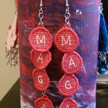 MAGA Dangle Earrings