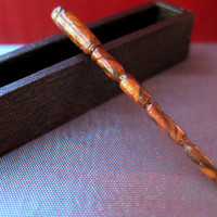 Dollhouse Miniature Magic Wand and Wooden Wand Display Box by LittleWooStudio