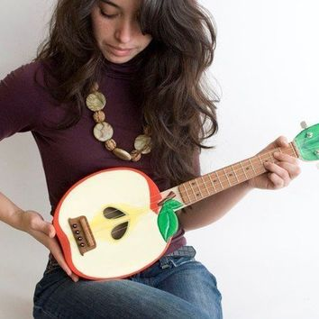 Apple ukulele  applelele  by celentanowoodworks on Etsy
