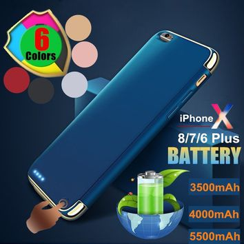 Battery Case For iPhone X High Capacity 3500mAh 4000mAh 5500mAh Battery Outdoor Travel Climbing Emergency Phone Charger Portable